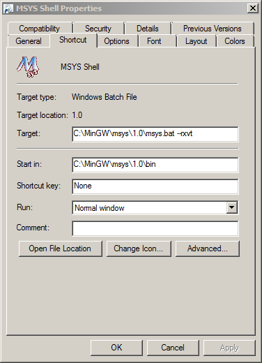 MinGW/MSYS development environment - Setting up the base system